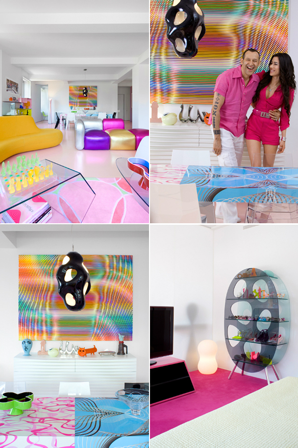 ish and chi the vibrant home of karim rashid interior design decorating and style ideas. Black Bedroom Furniture Sets. Home Design Ideas